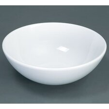 Round Ceramic Vessel Bathroom Sink without Overflow