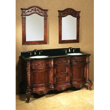 "Vintage Bordeaux 60"" Antique Bathroom Vanity Set"