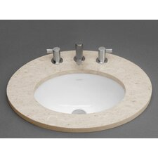 Oval Ceramic Undermount Bathroom Sink with Overflow