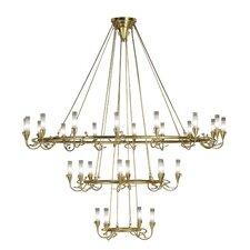 Age 18 Light / Gold Leaf Chandelier