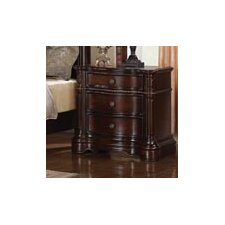 Heritage Manor 3 Drawer Nightstand