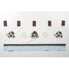 Mr. and Mrs. Pond Cotton Tab Top Tailored Curtain Valance