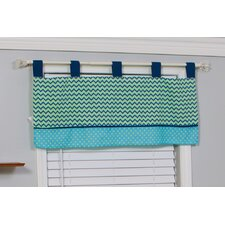 ZigZag Giraffe Cotton Blend Window Valance