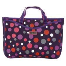 Small Neoprene Laptop Sleeve in Bouncing Ball Berry