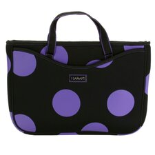 Small Neoprene Laptop Sleeve in Bubbles Plum