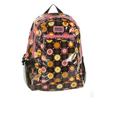 Cool Backpack Coated in Doodle Bugs Pink
