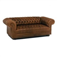 Tufted Chesterfield Short Leather Sofa