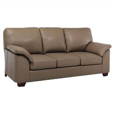 Regis Leather Sleeper Sofa