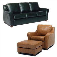 Edwardo Leather Sofa and Chair Set