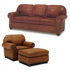 Huntington Leather Sofa and Chair Set