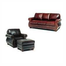 Easton Leather Sofa and Chair Set