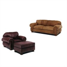 Beaumont Leather Sofa and Chair Set