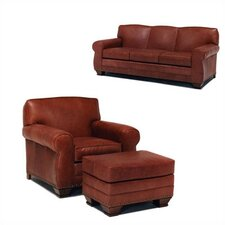 Hampton Leather Sofa and Chair Set
