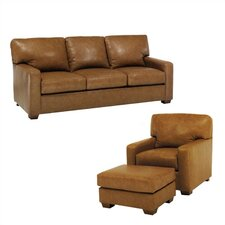 Maison Leather Sofa and Chair Set