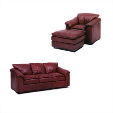 Denver Leather Sleeper Sofa and Chair Set