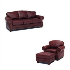 Addison Leather Sleeper Sofa and Chair Set