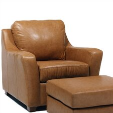 Edwardo Leather Chair and Ottoman