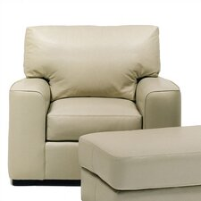 Baldwin Leather Chair and Ottoman