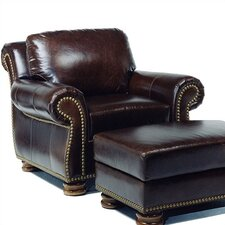 Hilton Leather Chair and Ottoman