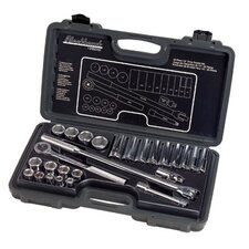 "26 Piece Standard Socket Sets - set skt 26 pc 1/2"" dr 6pt std deep sae"