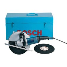 "15 Amp 12"" Portable Cut-Off Machine Kit with Two-Position Wraparound Side Handle Large Footplate To Improves Stability"
