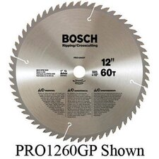 "Professional Series Circular Saw Blade For Ripping/Cross Cutting With 40 TPI, 5/8"" Arbor, 15° Hook Angle"