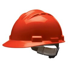 Series Red Vented Safety Cap With 4 Point Ratchet Headgear And Cotton Browpad