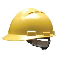 Series Yellow Vented Safety Cap With 4 Point Ratchet Headgear And Cotton Browpad