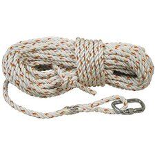 X 50' Nylon Rope Lifeline With Carabiner