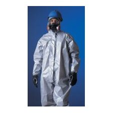 Tychem® CPF2 Gray Coverall With Zipper Front Attached Hood And Boots And Elastic Wrists And Face