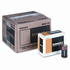 Coppertop Alkaline Batteries, D, 12 per pack