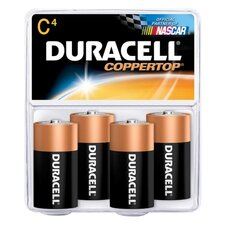 Alkaline Battery, Size C, 4/PK