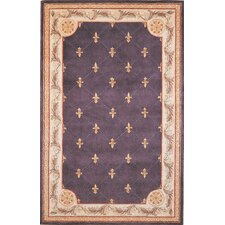 Jewel Grape Fleur-De-Lis Rug