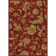 Versailles Red Aegean Scroll Rug