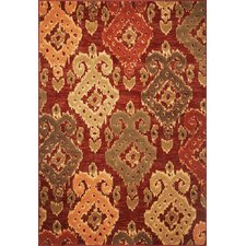 Geneva Burgundy Allover Ikat Rug