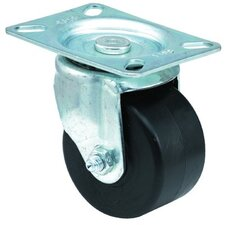 Low Profile Medium Duty Casters - 3x1-3/4 low profile 97 plate swivel caster