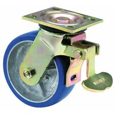 Heavy Duty Rigid Casters - 8x2 hvy duty 90 plate swivel total-lock caster
