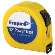 "Tape Measures - 5/8""x12' power measuringtape w/neon yell"