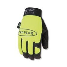 Lime Proflex® 812 Utility Glove With Spandex Back And Woven Elastic Wrist