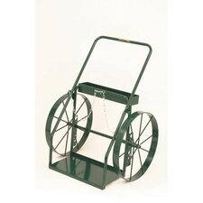 "300 Series Continuous Handle Hand Truck For Medium And Large Cylinders With 24"" Steel Wheels"