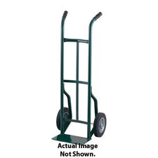 "50T Series Dual Handle Steel Hand Truck With 10"" Pneumatic 2-Ply Tubeless Tires"