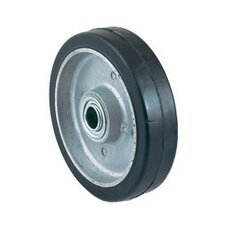 "6"" X 1 1/2"" Ball Bearing Mold-On Rubber Wheel"