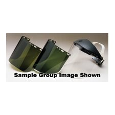"X 15 1/2"" X .040"" Dark Green Acetate Schedule B Visor With Aluminum Binding"