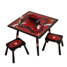Firefighter Kids' 3 Piece Table and Stool Set