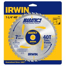 "7-1/4"" 40 Tooth Marathon® Portable Corded Circular Saw Blade"