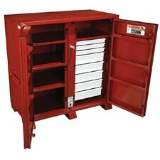 Industrial Cabinets - jobox steel 2 door drawer cab. 60.13x30.25x60.75