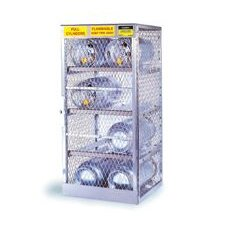 "1/2"" X 60"" X 32"" 12 Cylinder Horizontal Storage Locker For Flammables"