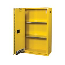 Gallon Yellow Flame EX Enhanced Sliding Door Safety Cabinet With Sliding Self-Closing Single Door
