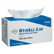 "WypAll® L30 Wipers - 11""x10.4"" white wypall l30 economy wiper 120/box"