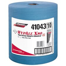 WypAll® X80 Towels - wypall x80 shop pro cloth towel blue 475/roll